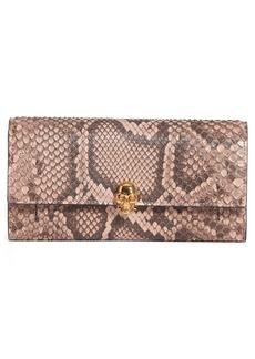Alexander McQueen Genuine Python Wallet on a Chain