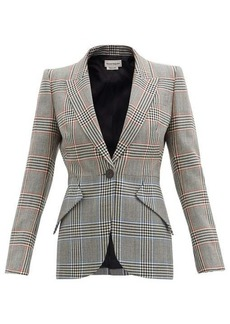 Alexander McQueen Prince of Wales-check wool-twill suit jacket
