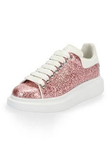 Glitter Lace-Up Platform Sneaker