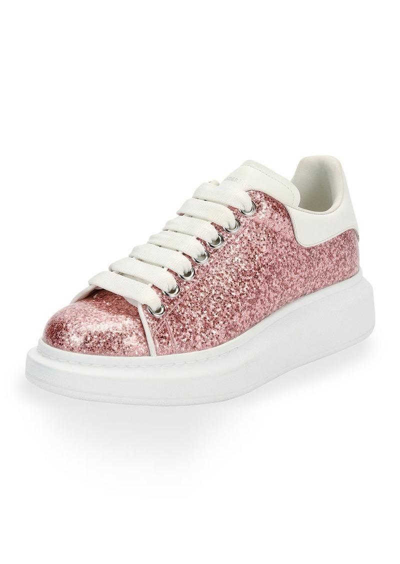 Alexander McQueen Alexander McQueen Glitter Lace-Up Platform Sneaker