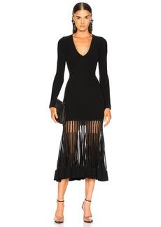 Alexander McQueen Graphic Ottoman Knit Maxi Dress