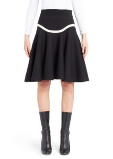 Alexander McQueen Graphic Stripe Knit Skirt