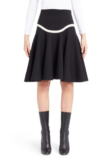 Alexander McQueen Graphic Stripe Knit Skirt