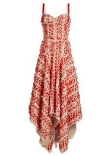 Alexander McQueen Handkerchief-hem tweed dress