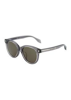 Alexander McQueen Havana Cat-Eye Plastic Sunglasses