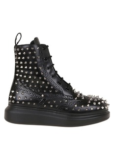 Alexander McQueen H.boot Leather S.rub