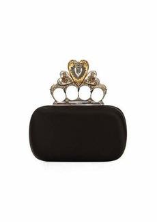 Alexander McQueen Heart Knuckle Short Box Clutch Bag