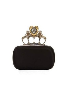 Alexander McQueen Heart Knuckle Short Box Clutch Bag