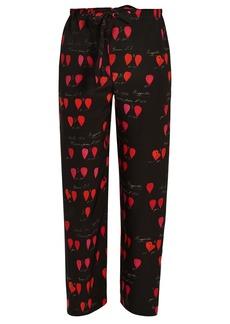Alexander McQueen Heart-print straight-leg trousers