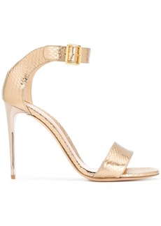 Alexander McQueen Heart sandals - Metallic