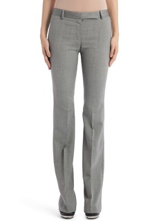 Alexander McQueen Herringbone Wool Flare Pants