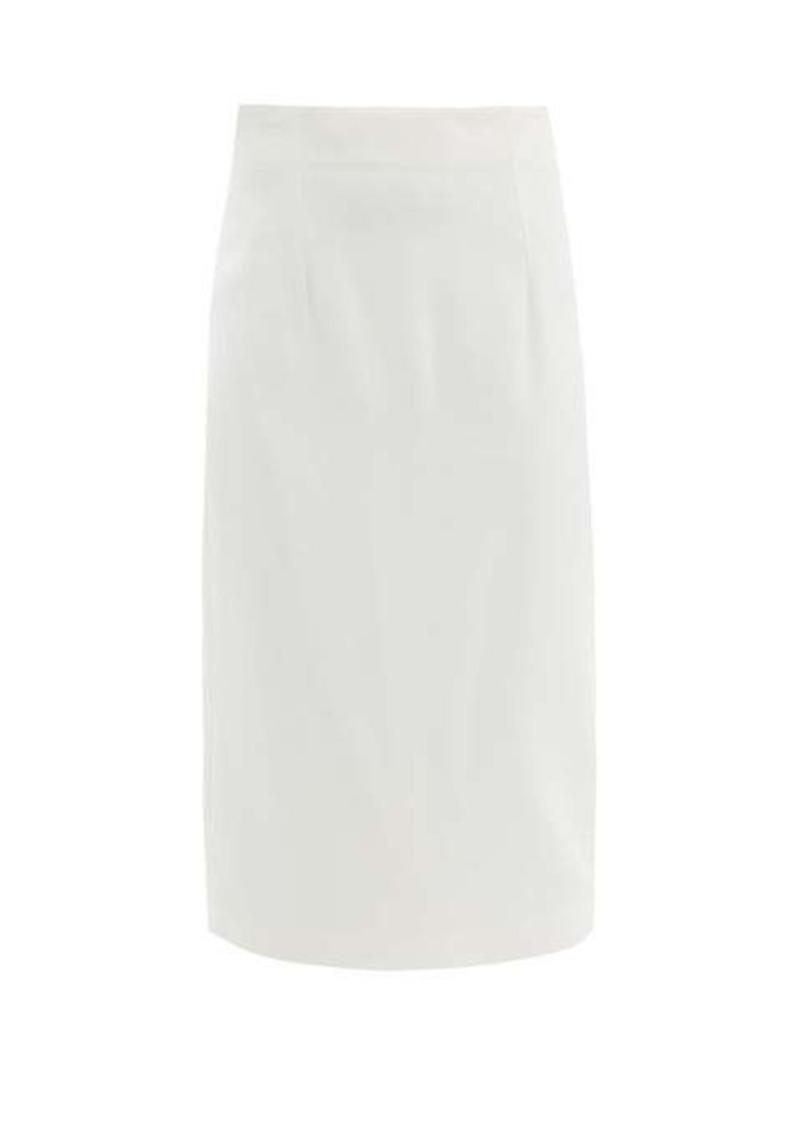 Alexander McQueen High-rise crepe skirt
