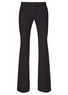 Alexander McQueen High-rise flared crepe trousers