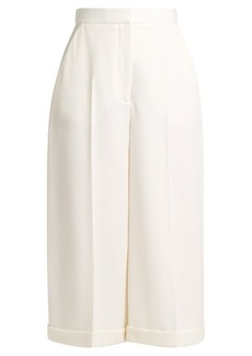 Alexander McQueen High-rise grain de poudre wool culottes
