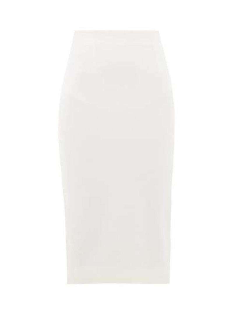 Alexander McQueen High-rise grain-de-poudre wool pencil skirt