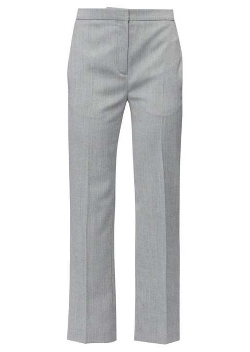 Alexander McQueen High-rise herringbone-wool trousers