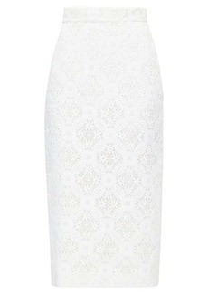Alexander McQueen High-rise lace pencil skirt