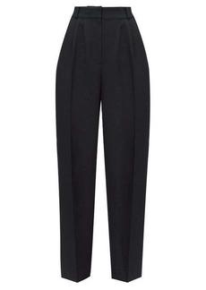 Alexander McQueen High-rise wool-blend crepe trousers