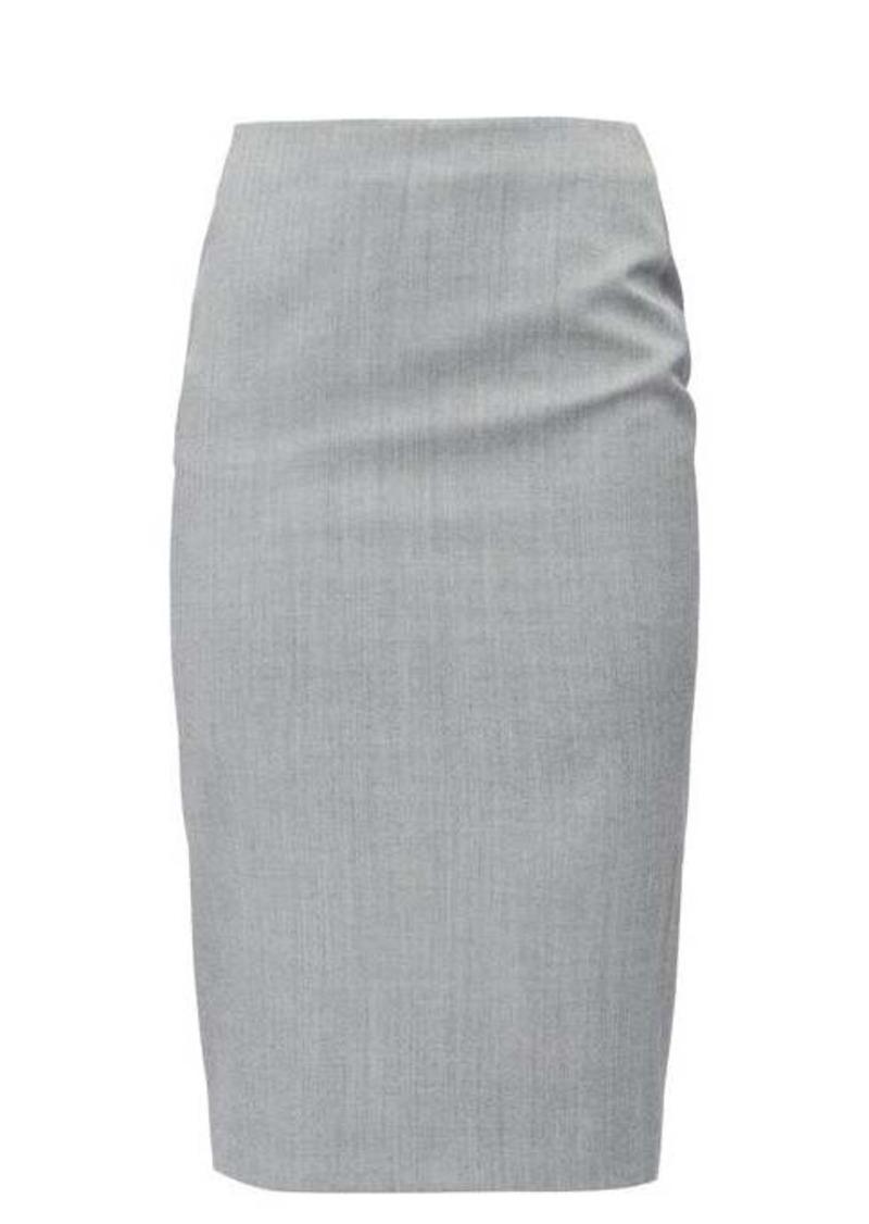 Alexander McQueen High-rise sharkskin pencil skirt