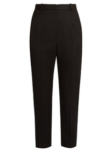 Alexander McQueen High-rise slim-leg grain de poudre wool trousers