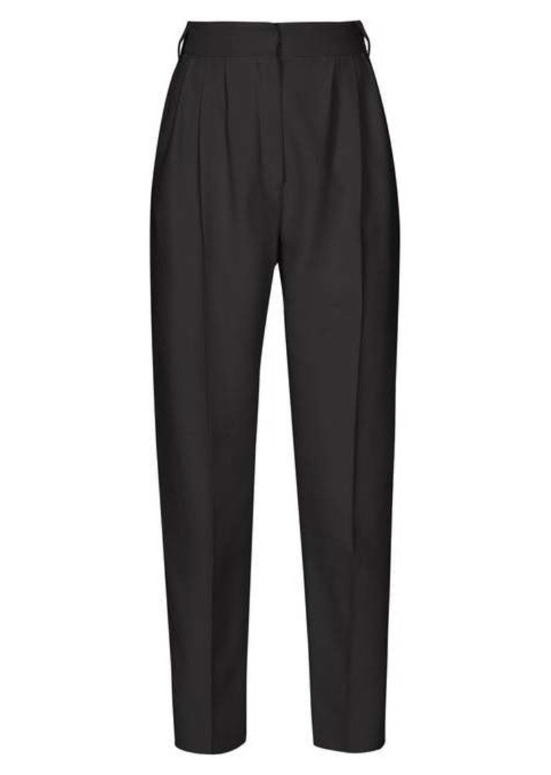 Alexander McQueen High-rise straight-leg crepe trousers