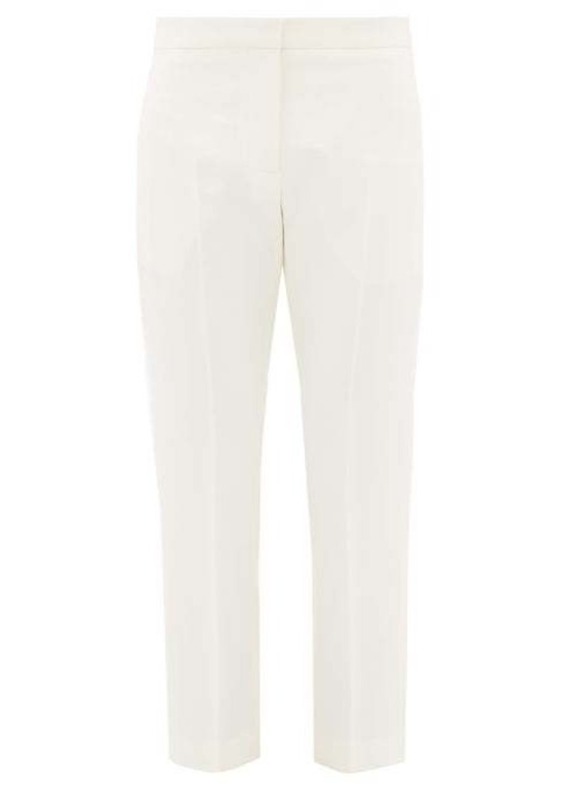 Alexander McQueen High-rise wool-blend crepe cigarette trousers
