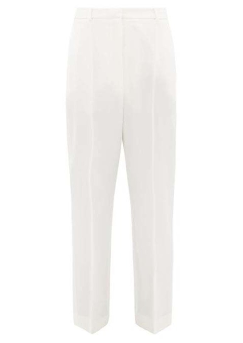 Alexander McQueen High-rise wool grain de poudre cigarette trousers