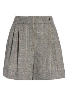 Alexander McQueen High Waist Distressed Wool Shorts