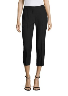 Alexander McQueen High-Waisted Stretch Leaf Crepe Pants