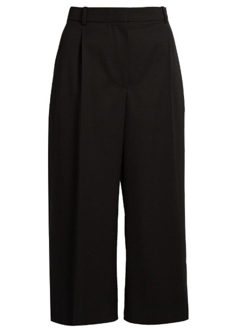 Alexander McQueen High-waisted wool-blend culottes
