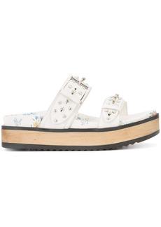 Alexander McQueen hobnail sandals - White