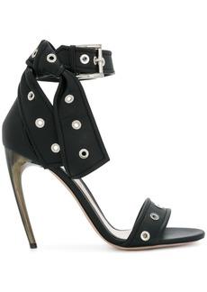 Alexander McQueen horn heel sandals - Black