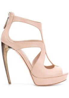 Alexander McQueen Horn Heel sandals - Pink & Purple