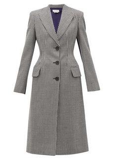 Alexander McQueen Houndstooth hourglass wool coat