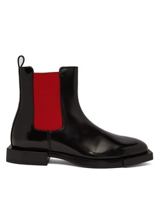 Alexander McQueen Hybrid patent-leather chelsea boots