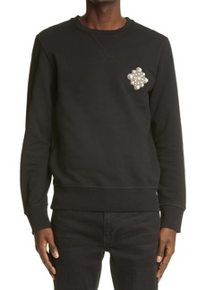 Alexander McQueen Imitation Pearl Embellished Sweatshirt