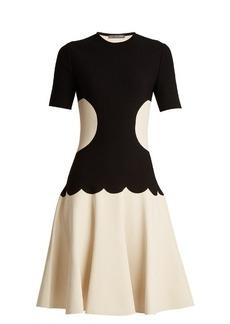Alexander McQueen Intarsia-knit flared-skirt dress