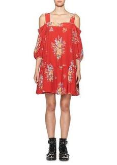 Alexander McQueen Island Bouquet Off-the-Shoulder Dress