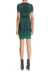 Alexander McQueen Jacquard Knit Sheath Dress
