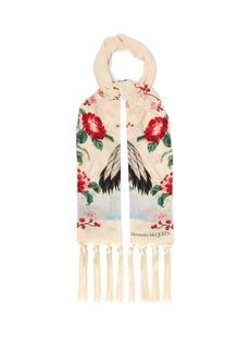Alexander McQueen Japanese-print silk scarf
