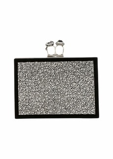 Alexander McQueen Jeweled Double Ring Crystal Clutch Bag