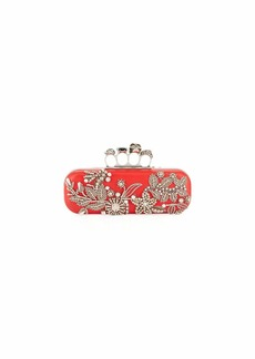 Alexander McQueen Jeweled Four-Ring Hard Clutch Bag