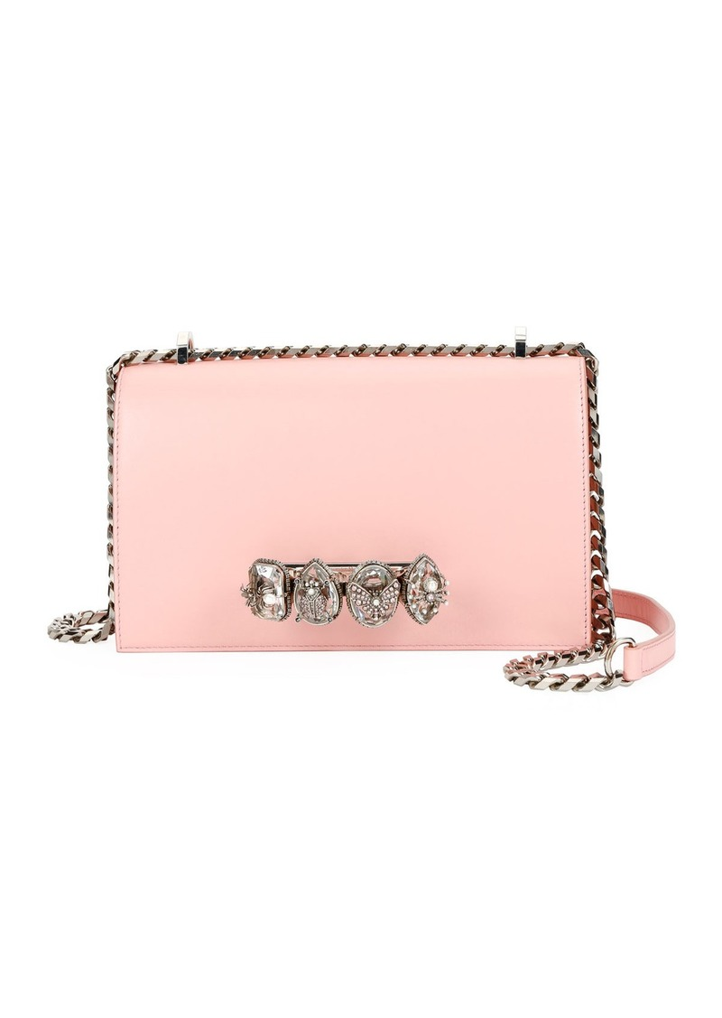 Alexander McQueen Jewelled Knuckle Flap Box Shoulder Bag
