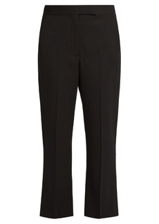 Alexander McQueen Kick-flare cropped tailored trousers
