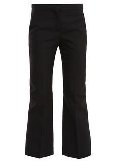 Alexander McQueen Kick-flare wool-blend cropped trousers