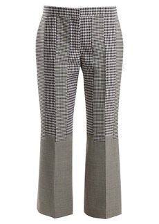 Alexander McQueen Kick-flare wool cropped trousers
