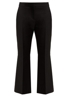 Alexander McQueen Kickback cropped wool-blend trousers