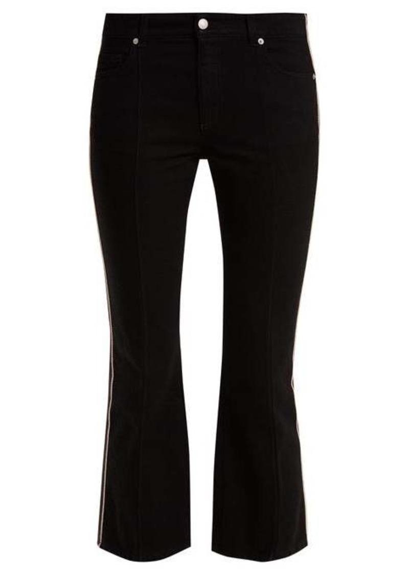 Alexander McQueen Kickback mid-rise side-stripe jeans