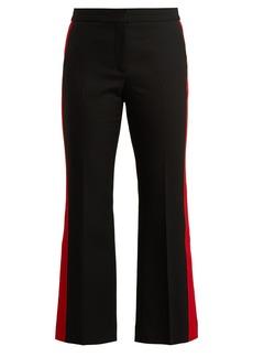 Alexander McQueen Kickback wool-blend cropped trousers