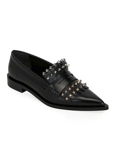 Alexander McQueen Kiltie Loafers with Spikes